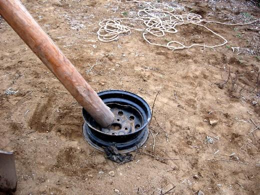 丸太を使った三脚の作り方