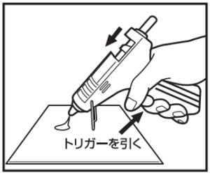 【使い方3】トリガーを引いてスティックを押し出す