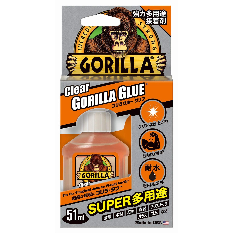 ゴリラグルークリアは万能で強力な接着剤!屋外でも使えてDIYにおすすめ