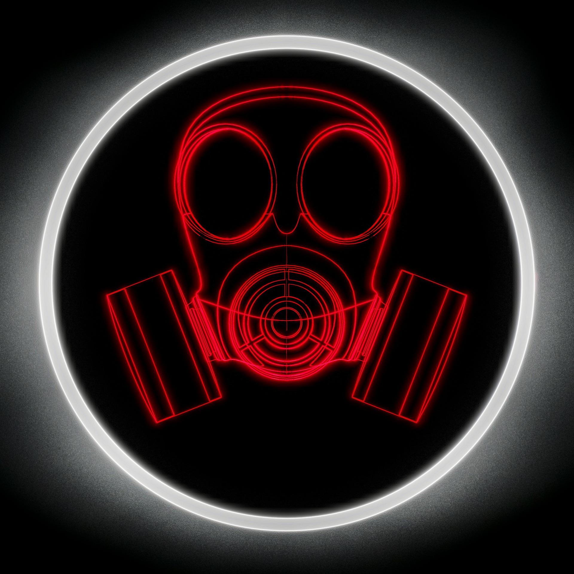 暗いガスマスク